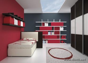 Young-cameretta-letto-scrittoio-armadio-libreria-rovere-half