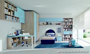 seipersei cameretta con scrivania o armadio ad angolo - diotti a&f ... - Armadio Angolare Cameretta