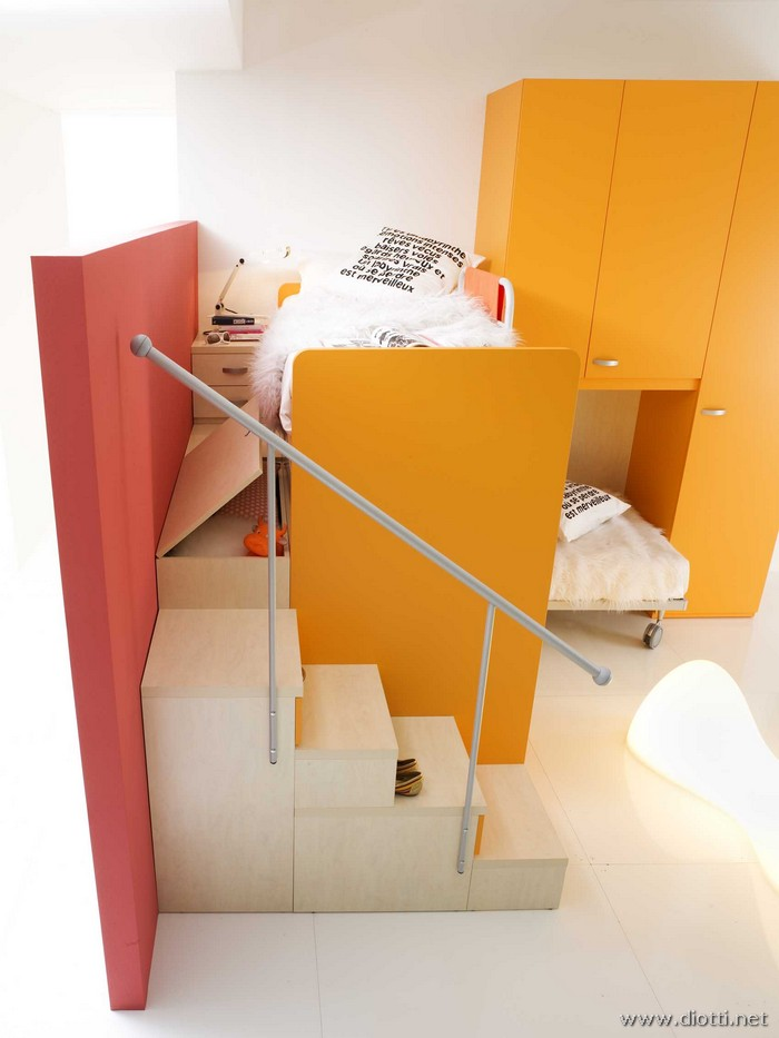 Seipersei perpendicular bunk beds yellow 3