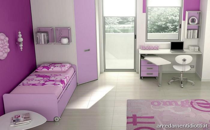 Cameretta Lilla E Bianca : Pareti cameretta lilla design casa creativa e mobili ispiratori