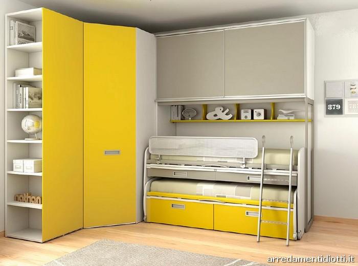 Camerette per bambini e ragazzi moretti compact diotti a - Camerette con cabina armadio ...