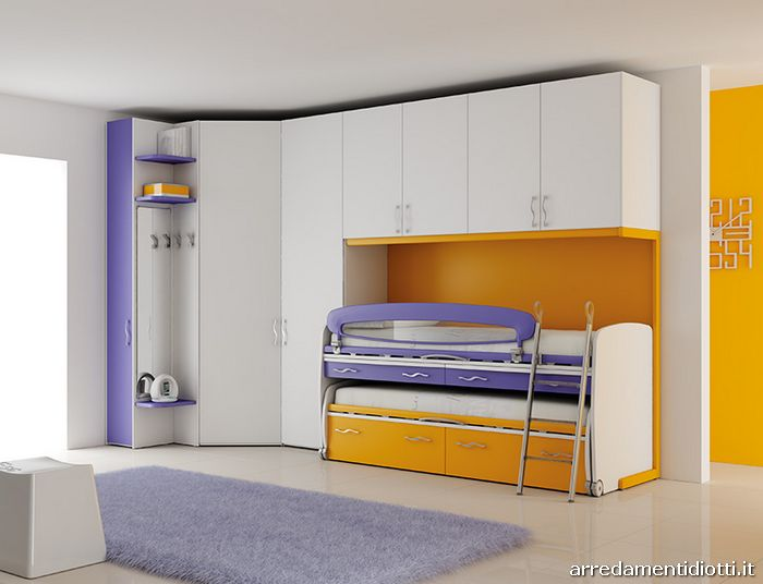 Camerette per bambini e ragazzi moretti compact diotti a for Prezzi della cabina di tronchi di 3 camere da letto