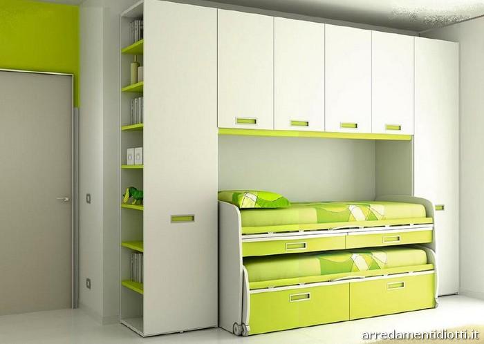 Cameretta Bianca E Verde : Camerette bimbi arancione e verde camerette per bambini foto