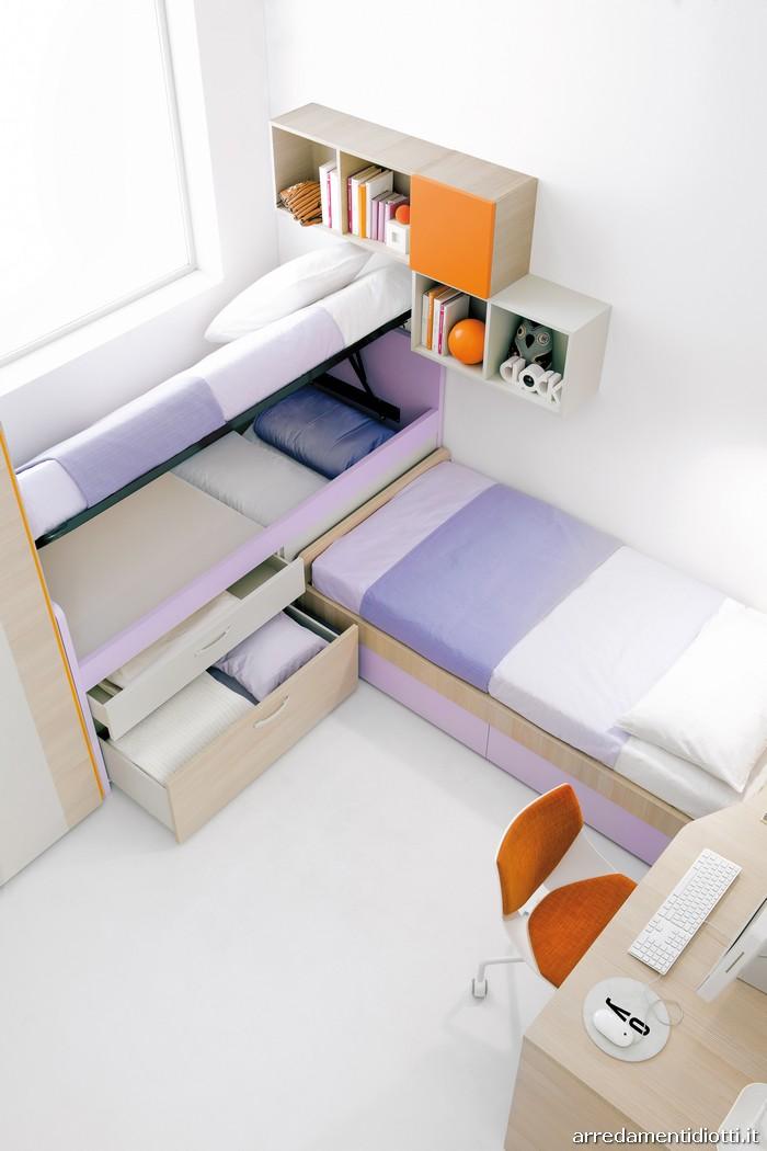 Possiamo realizzare camerette multifunzione compatte in - Camera da letto doppia ...