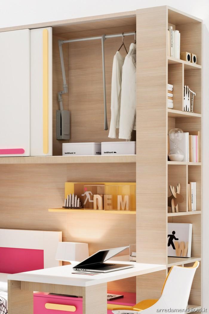 Soluzioni per camerette caratterizzate da armadiatura a - Sostegno per leggere a letto ...