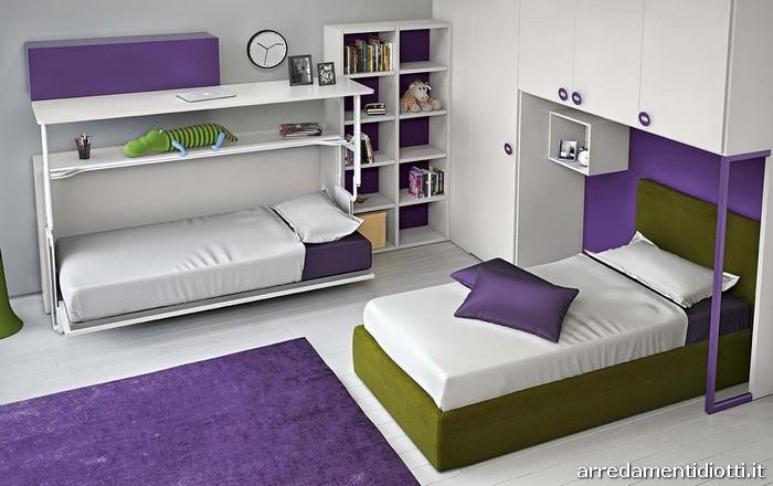 Stunning cameretta 2 letti contemporary acrylicgiftware for Ikea letto ribaltabile