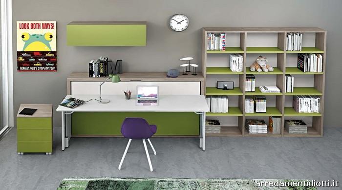 Cameretta Start in Motion con letto ribaltabile e scrivania ...