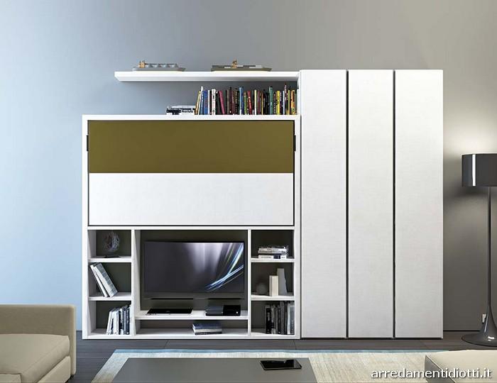 Cameretta con letti a scomparsa letto scorrevole with for Ikea letto ribaltabile