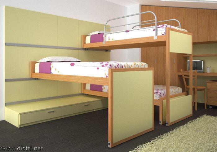 Ecco un esempio di scorrimento con l'estrazione del letto centrale.