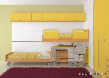 Young-cameretta-armadio-giallo-generale-frontale-half