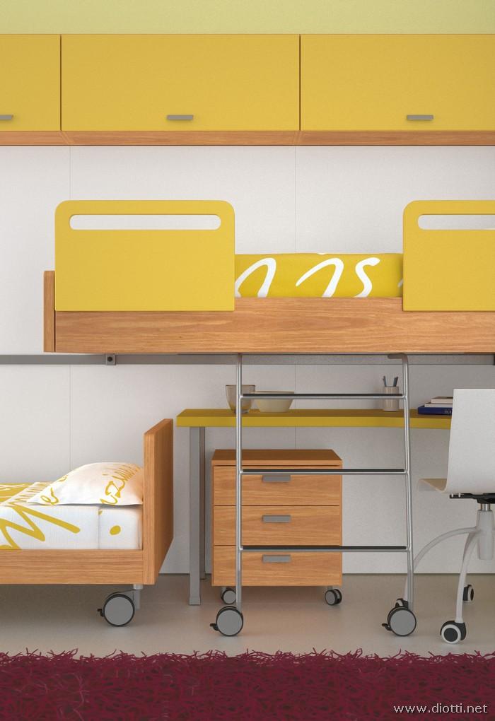 Young-cameretta-letti-scorrevoli-ciliegio-laccato-giallo-big