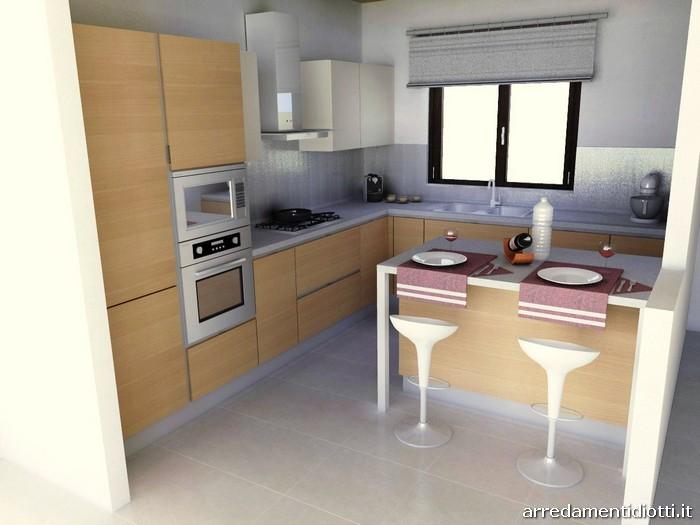 Cucina Horizon polimerico noce - DIOTTI A&F Arredamenti