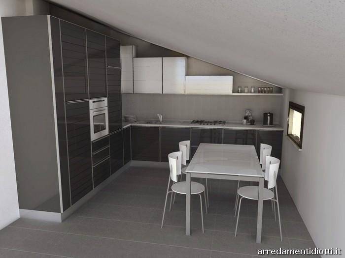 Cucina system anta vetro dogato diotti a f arredamenti - Ante in vetro cucina ...