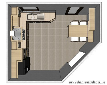 Cucina asolo classica frassino diotti a f arredamenti for Foto di cucina e soggiorno a pianta aperta
