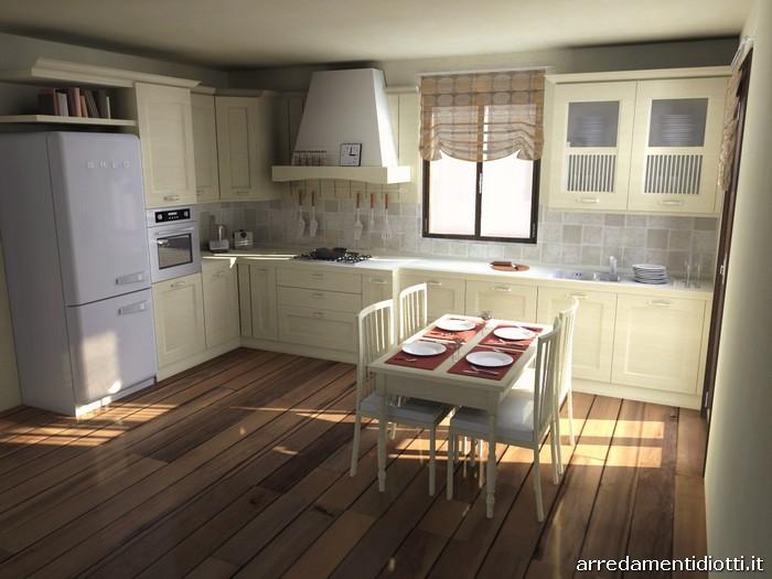Cucina Asolo classica avorio - DIOTTI A&F Arredamenti