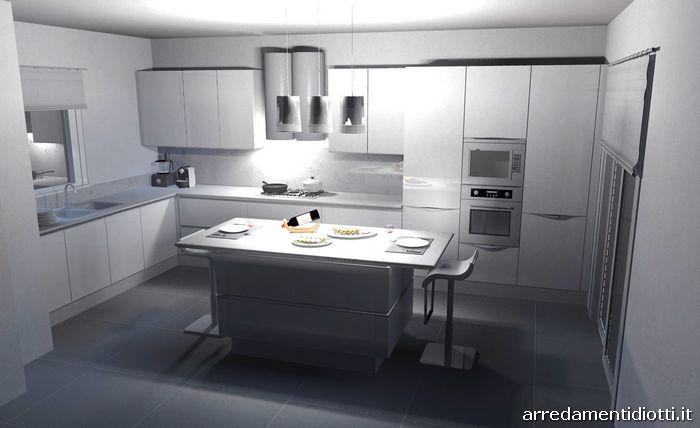Cucina con gola laccata bianca Idea - DIOTTI A&F Arredamenti