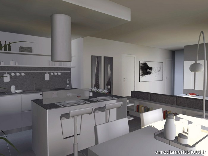 Cucina angolare con penisola moderna Dream - DIOTTI A&F ...