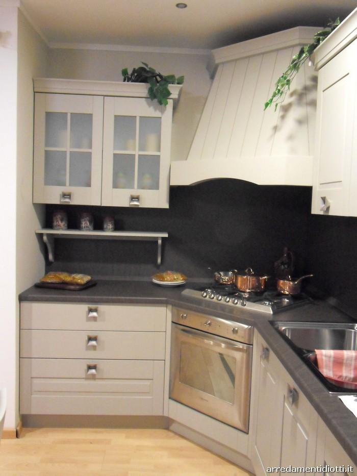 Cucina s74 angolare laccata sabbia diotti a f arredamenti - Cucine angolari in offerta ...