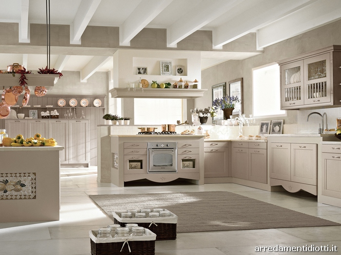 Cucina country classica asolo diotti a f arredamenti - Cucina grigio tortora ...