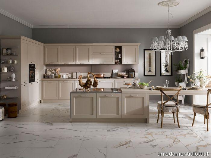 Cucina country classica asolo diotti a f arredamenti - Cucine color avorio ...