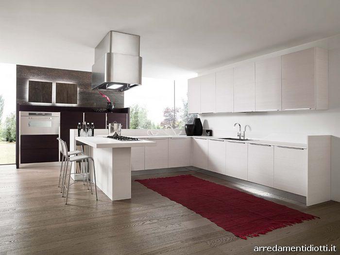 Cucina in legno e laccato lucido Sfera - DIOTTI A&F Arredamenti
