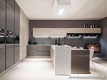 Cucina in legno e laccato lucido sfera diotti a f - Cucina color panna ...