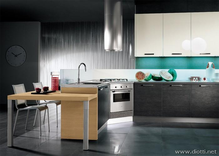 Cucine Rovere Sbiancato Moderne : Cucina isola rovere sbiancato