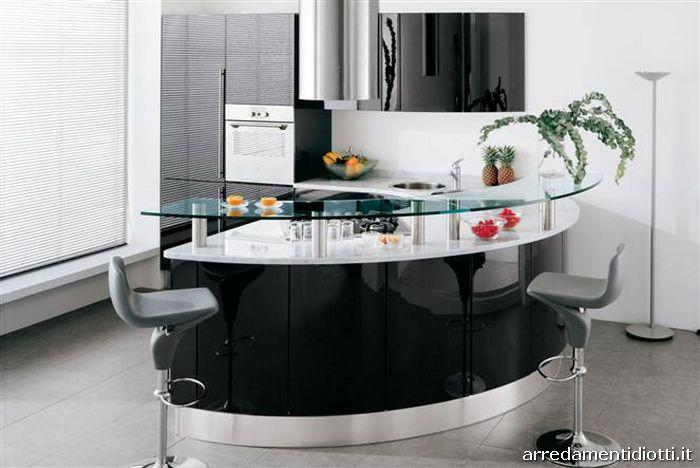 cucine ad angolo moderne piccole cucina rotonda geosfera con penisola curva diotti af arredamenti