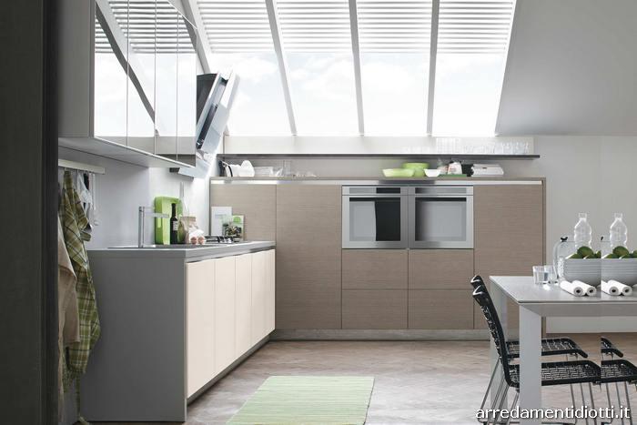 Cucina in legno maniglia o gola life gloria diotti a f arredamenti - Cucine grigio perla ...