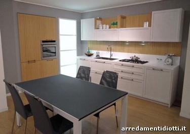 Cucina con anta a telaio in offerta realizzata in Rovere Gesso e in ...