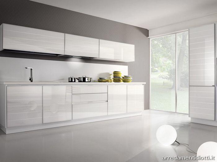 Cucina system in vetro dogato o liscio diotti a f - Top cucina in vetro ...