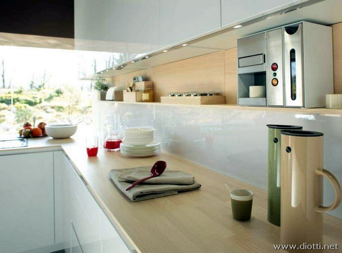 Awesome orange snaidero macchina caff barra luci led with mensole cucina moderna - Mensole per cucine ...
