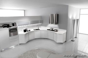 cucina angolare con basi sagomate diotti af arredamenti