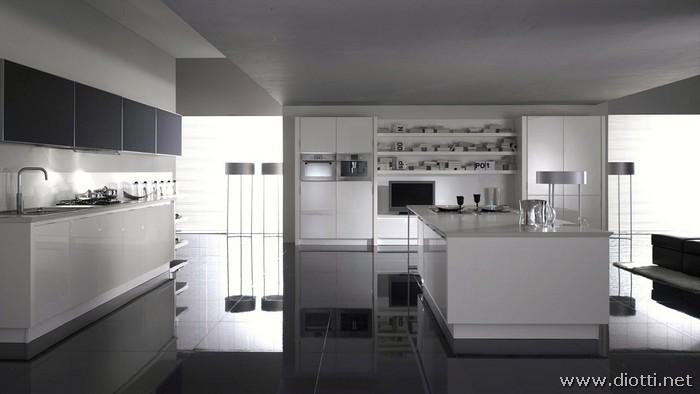 Sfera diotti a f arredamenti for Cucina moderna bianca lucida