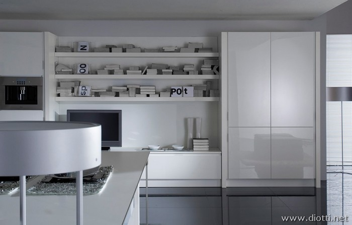 Forum arredare cucina su nuova costruzione for Cucina moderna bianca lucida