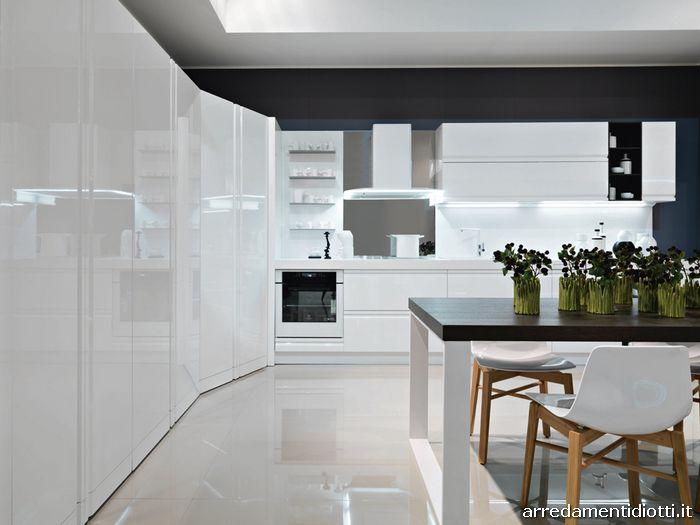 Zerocinque cucina maniglia pantografata diotti a f arredamenti - Mobili cucina moderna ...