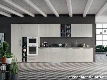 mosaico cucina moderna : Cucina moderna componibile in melaminico Spring - DIOTTI A&F ...