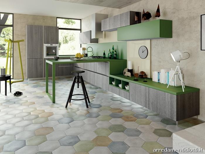 Cucina moderna componibile in melaminico Spring - DIOTTI A ...