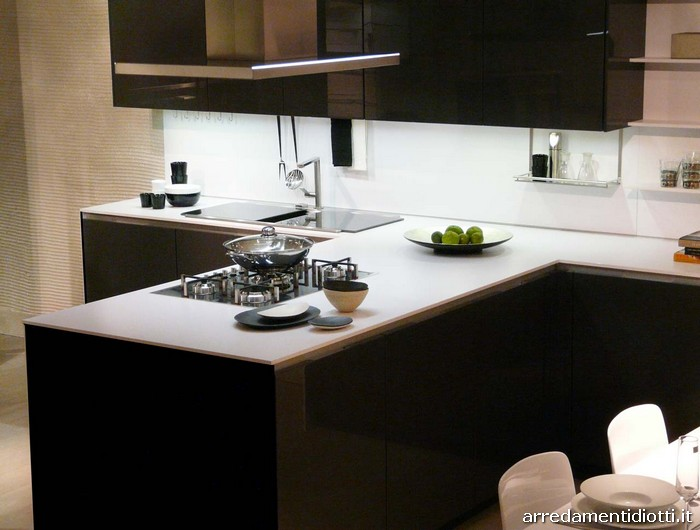 Cucina orange vetro di snaidero cucine diotti a f arredamenti