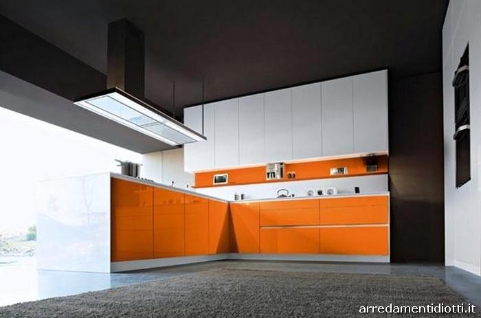 Cucina Moderna Arancione.Cucine Moderne Arancio Ispirazione Per La Casa