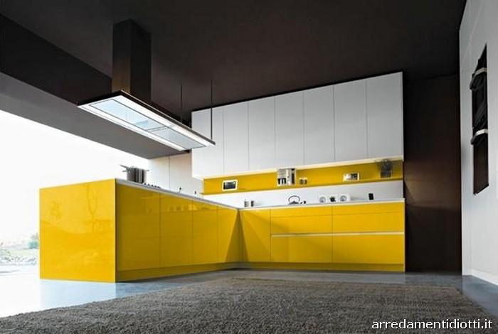 Mobili Cucina Giallo.Cucina Snaidero Orange Laccata In 28 Colori Diotti A F