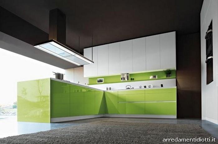 Cucina snaidero orange laccata in 28 colori diotti a f - Cucine moderne gialle ...