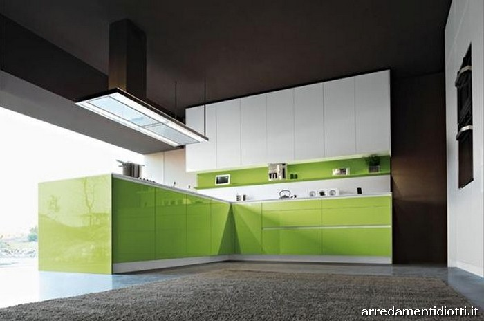 Cucina snaidero orange laccata in 28 colori diotti a f arredamenti - Cucine moderne colori ...