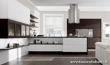 Cucina moderna con gola componibile bring diotti a f for Cucine moderne contemporanee