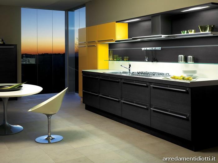 Cucina way moderna bicolore diotti a f arredamenti for Cucina moderna 330