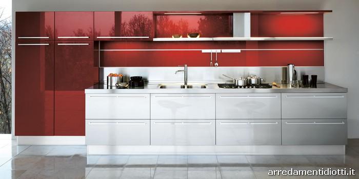 Cucina way moderna bicolore diotti a f arredamenti - Cucine bicolore moderne ...