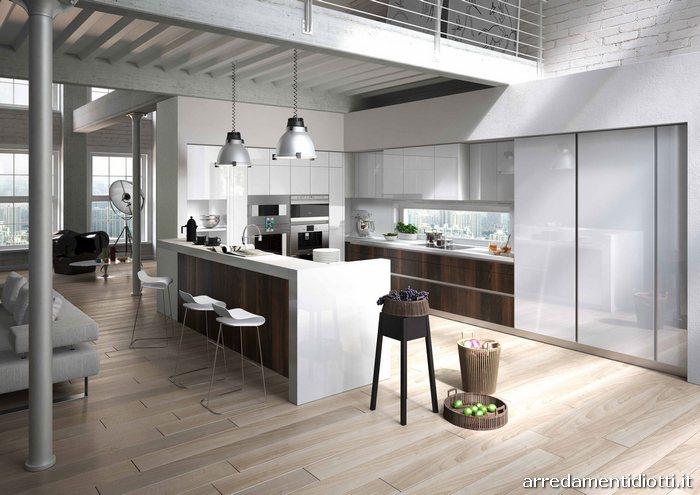 Cucine Bicolore. Interesting A U Moderne With Americane Isola Cucine ...