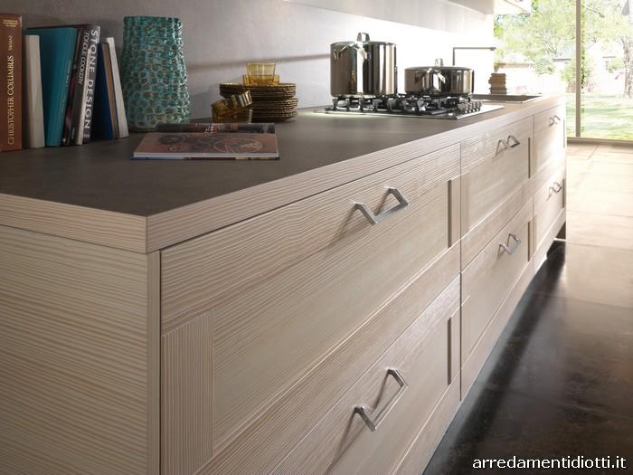 Cucina donna in larice con anta telaio diotti a f for Zoccolo casa moderna