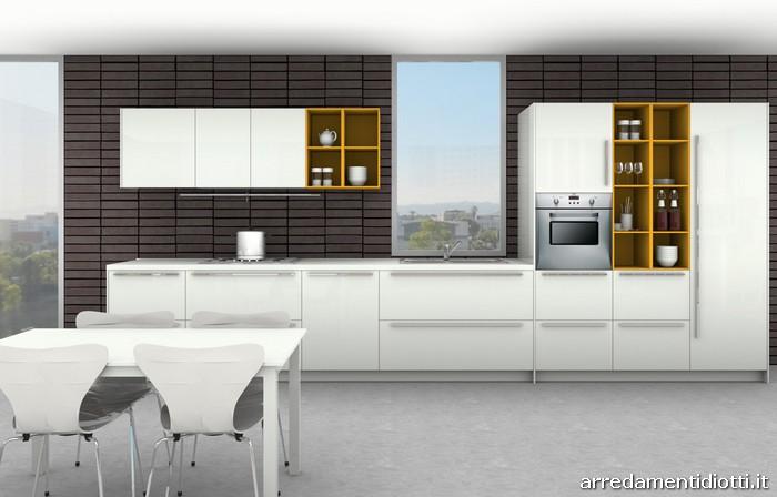 Cucina code lineare personalizzabile su misura diotti a - Cucine a giorno ...