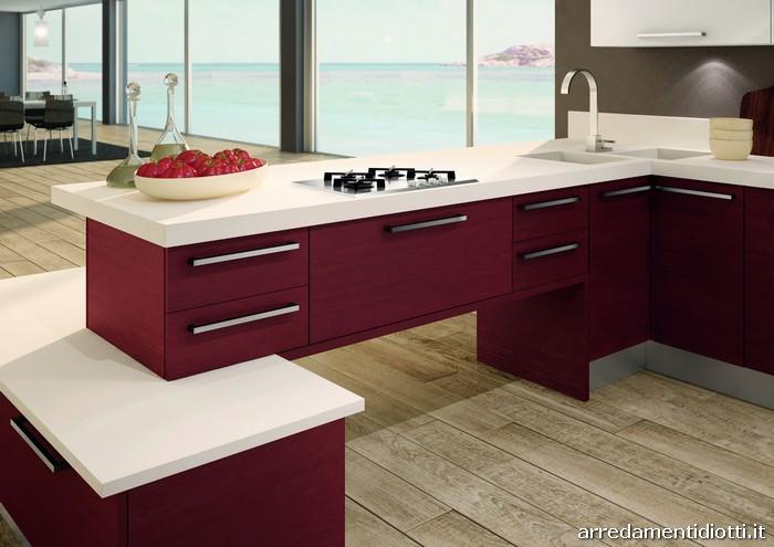Cucina Living legno spazzolato - DIOTTI A&F Arredamenti